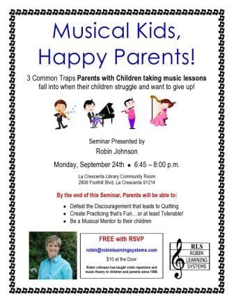 Musical Kids, Happy Parents! Seminar