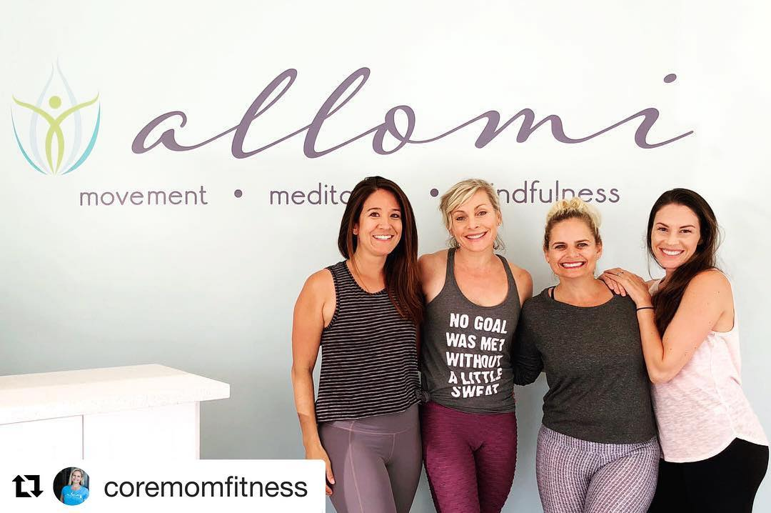 Core Mom Pop Up Classes at Allomi