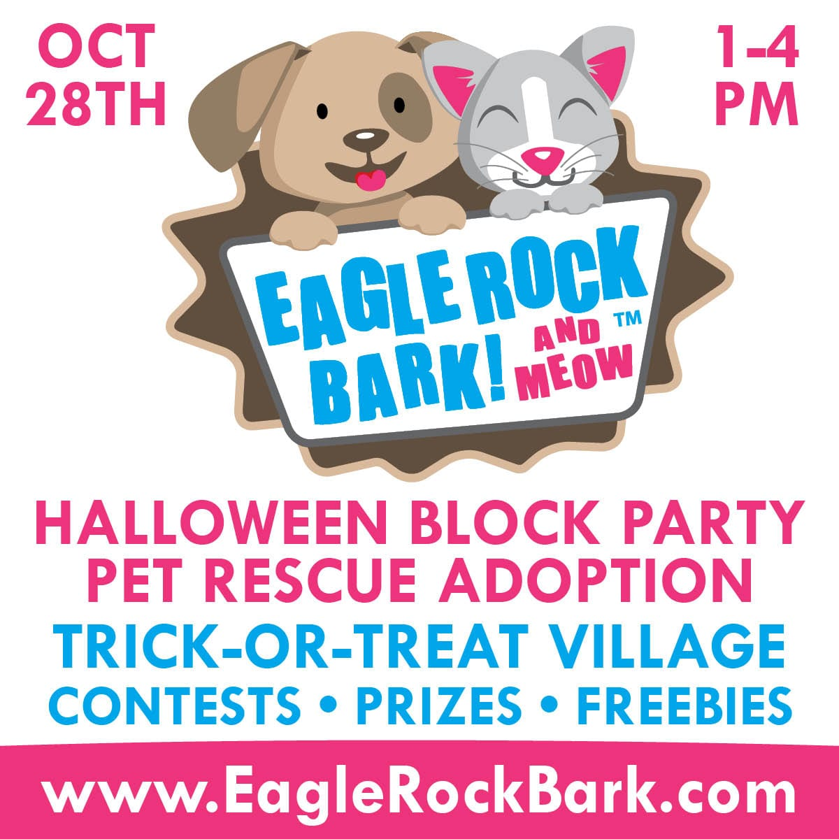 Eagle Rock Bark: Halloween Party Pet Rescue Adoption!