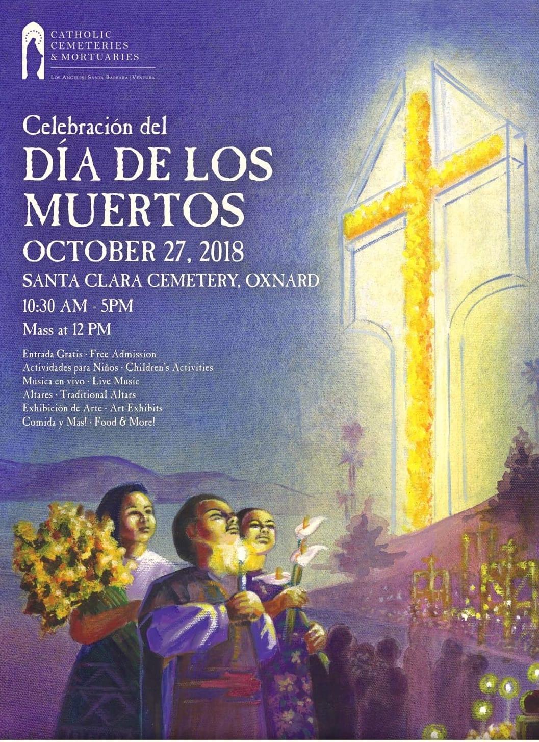 Día de los Muertos Celebration At Oxnard's Santa Clara Cemetery