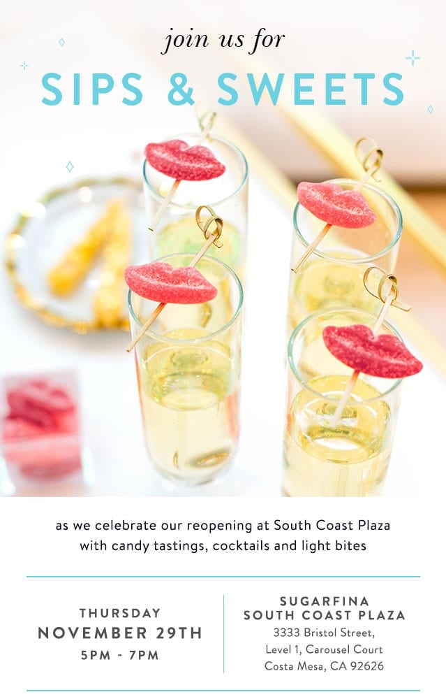 Sugarfina's South Coast Plaza Grand Re-Opening