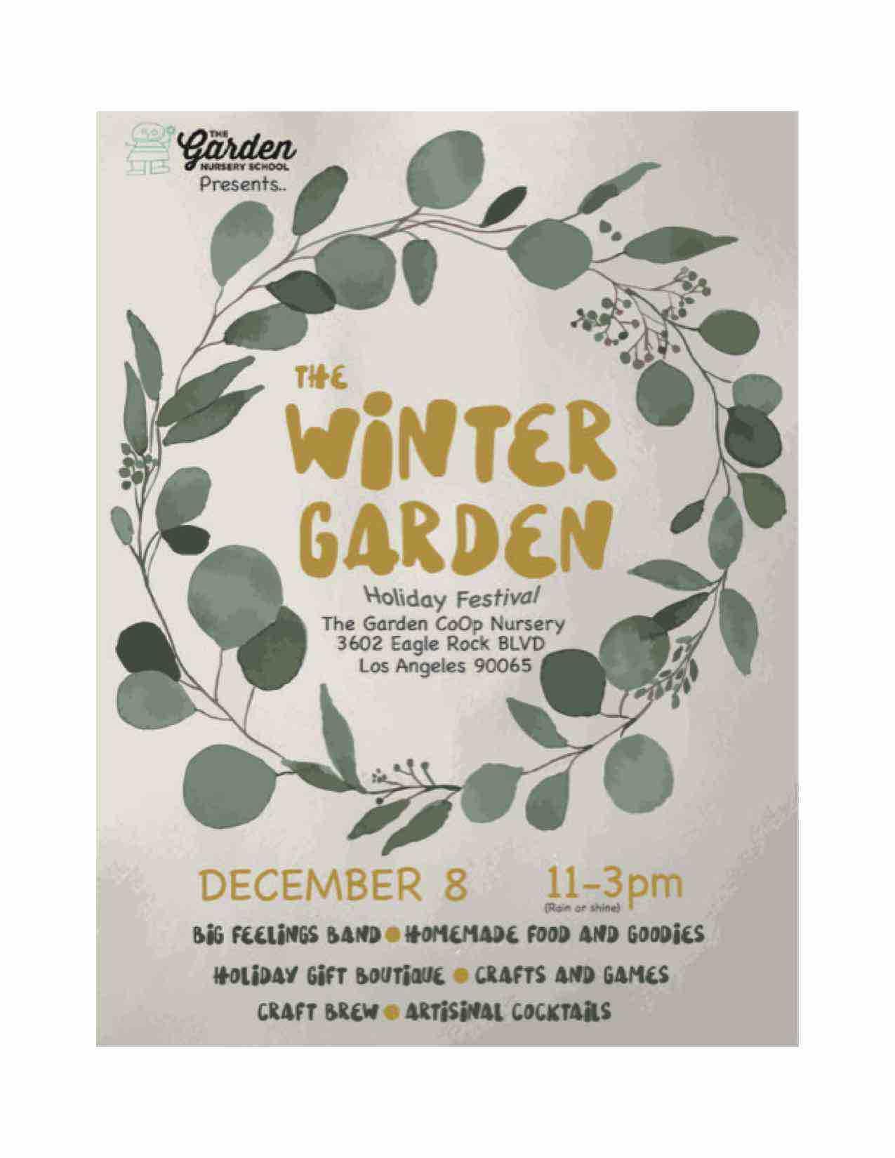 The Garden Co-op Nursery School's Winter Garden Festival