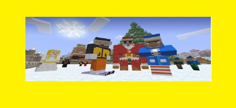 Winter Wonderland with Minecraft and Animated Holiday Cards