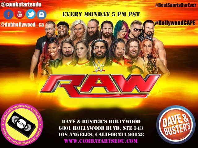 Dave & Busters WWE RAW Watch Party