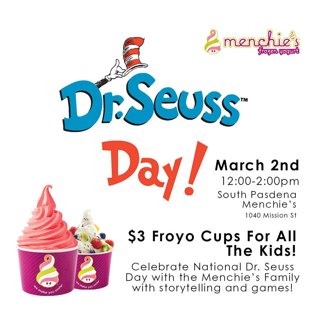 Menchie's National Dr. Seuss Day