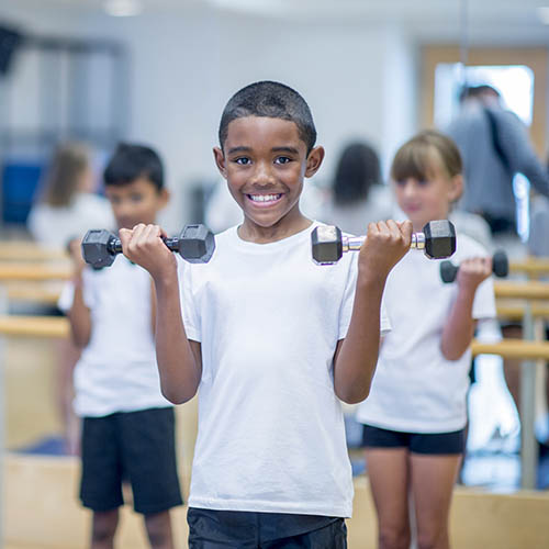 kids weight lifting