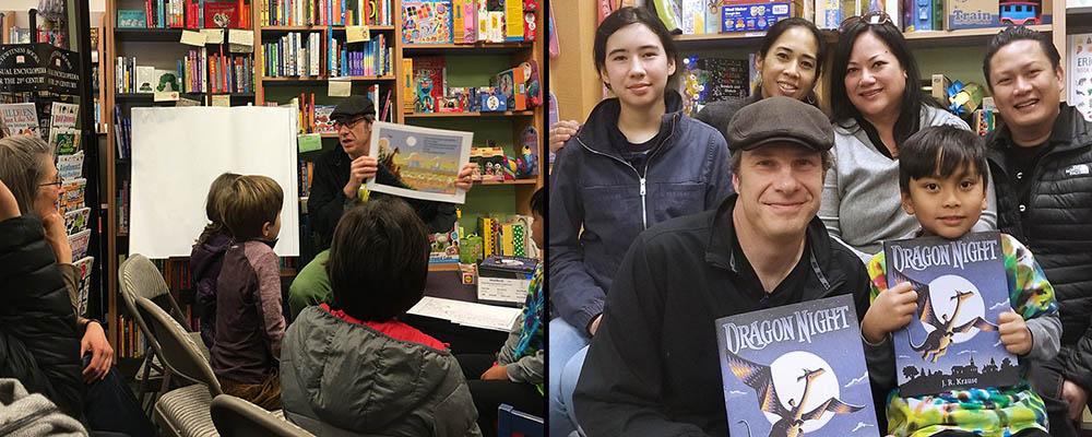 Pajama Story Time with Dragon Night author J.R. Krause