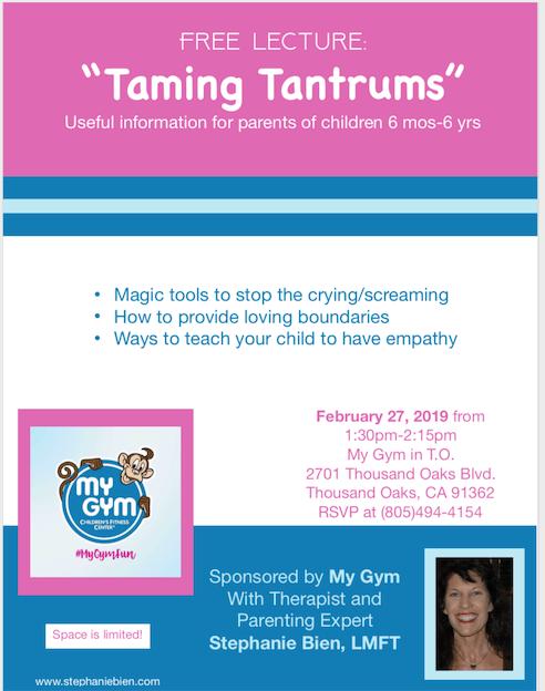 Taming Tantrums Workshop