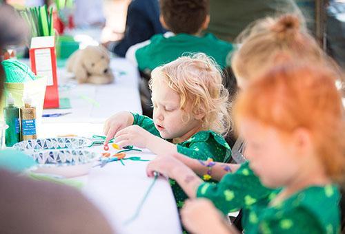 DIY Paper Leprechauns at One Colorado