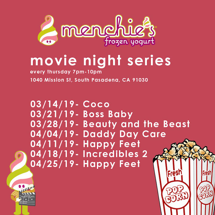 Menchie's Free Movie Night Series