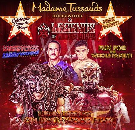 Madame Tussauds Hosts Cinco de Mayo Wrestling Match