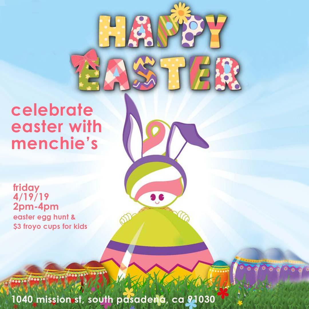 Menchie's Easter Egg Hunt