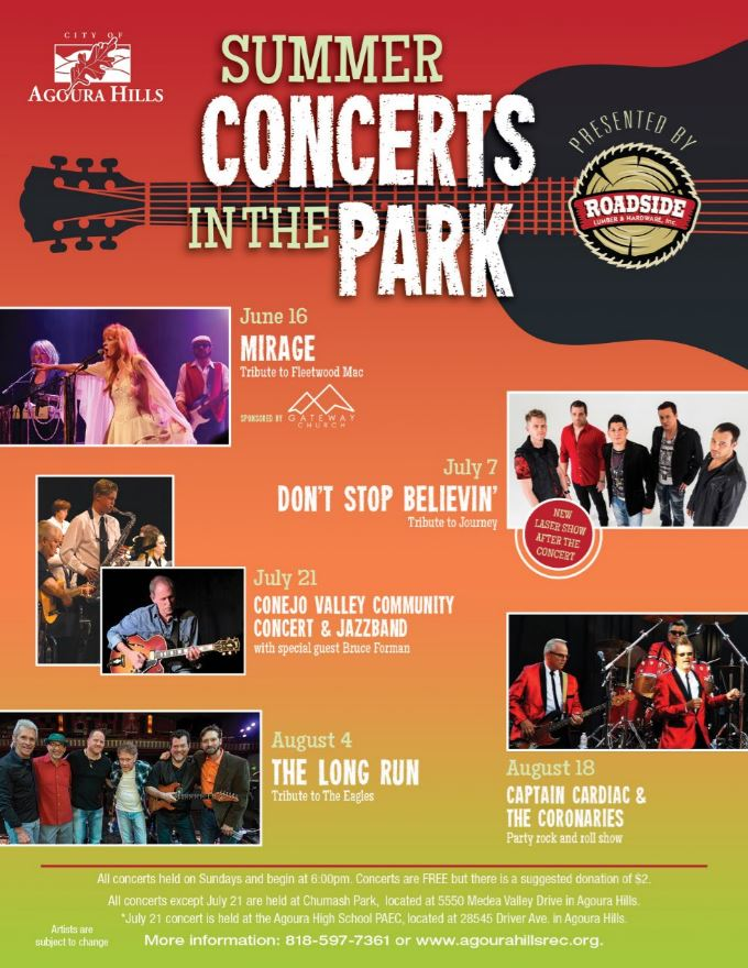 Agoura Hill's Summer Concerts in the Park