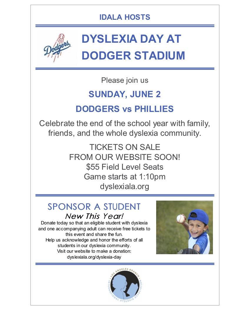 Dyslexia Dodger Day
