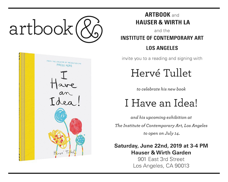 Hervé Tullet Book Signing & Reading at Hauser & Wirth Los Angeles