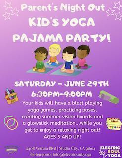 Parents Night Out: Kids Yoga Pajama Party | L A  Parent
