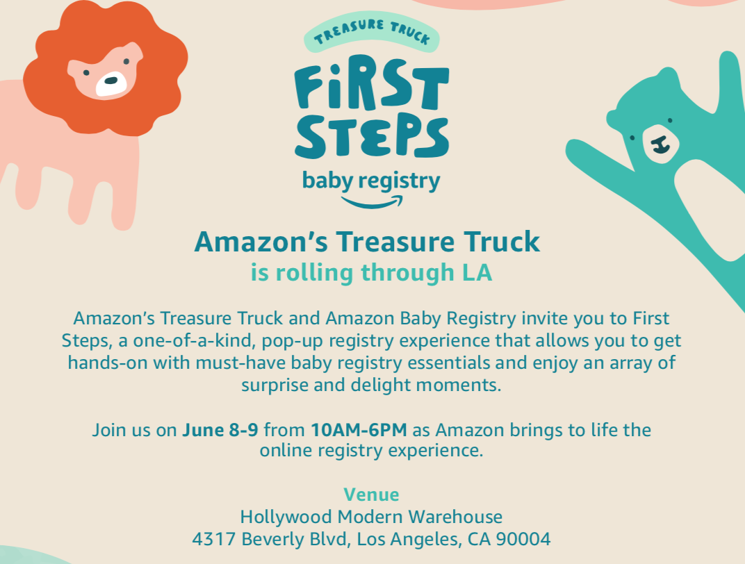 Amazon's Treasure Truck and Amazon Baby Registry Launch First Steps Pop-Up
