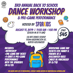 3rd Annual Back-to-School Dance Workshop & L.A. Sparks Pre-Game Performance
