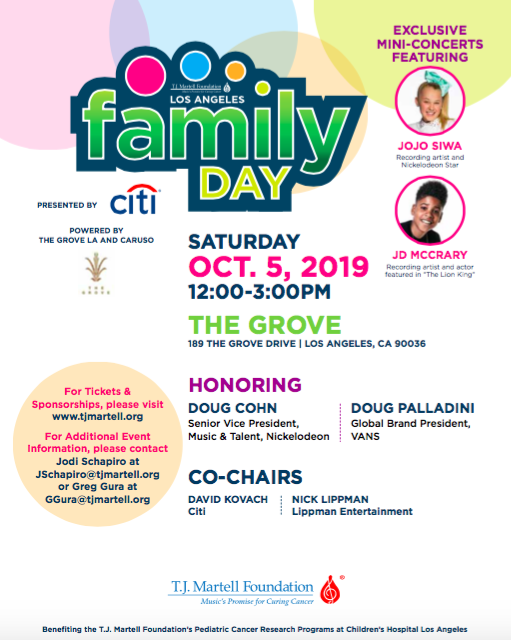 T.J. Martell Foundation's LA Family Day