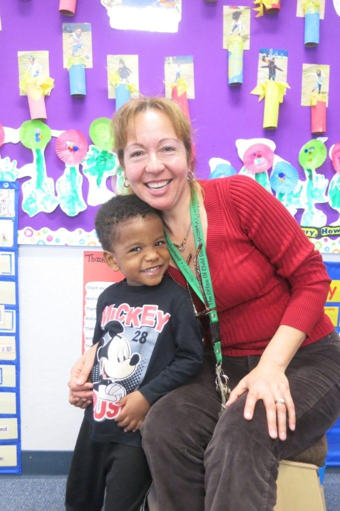 Preschool teacher Guadalupe Aguila