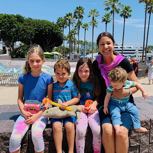 Manners maven Jennifer Scott and her children