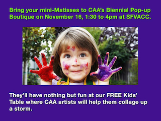 Collage Artists of America Free Kids Collage Workshop and Biennial Pop-Up Boutique