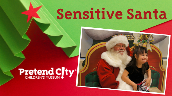 Sensitive Santa Visits Pretend City's Family Autism Night