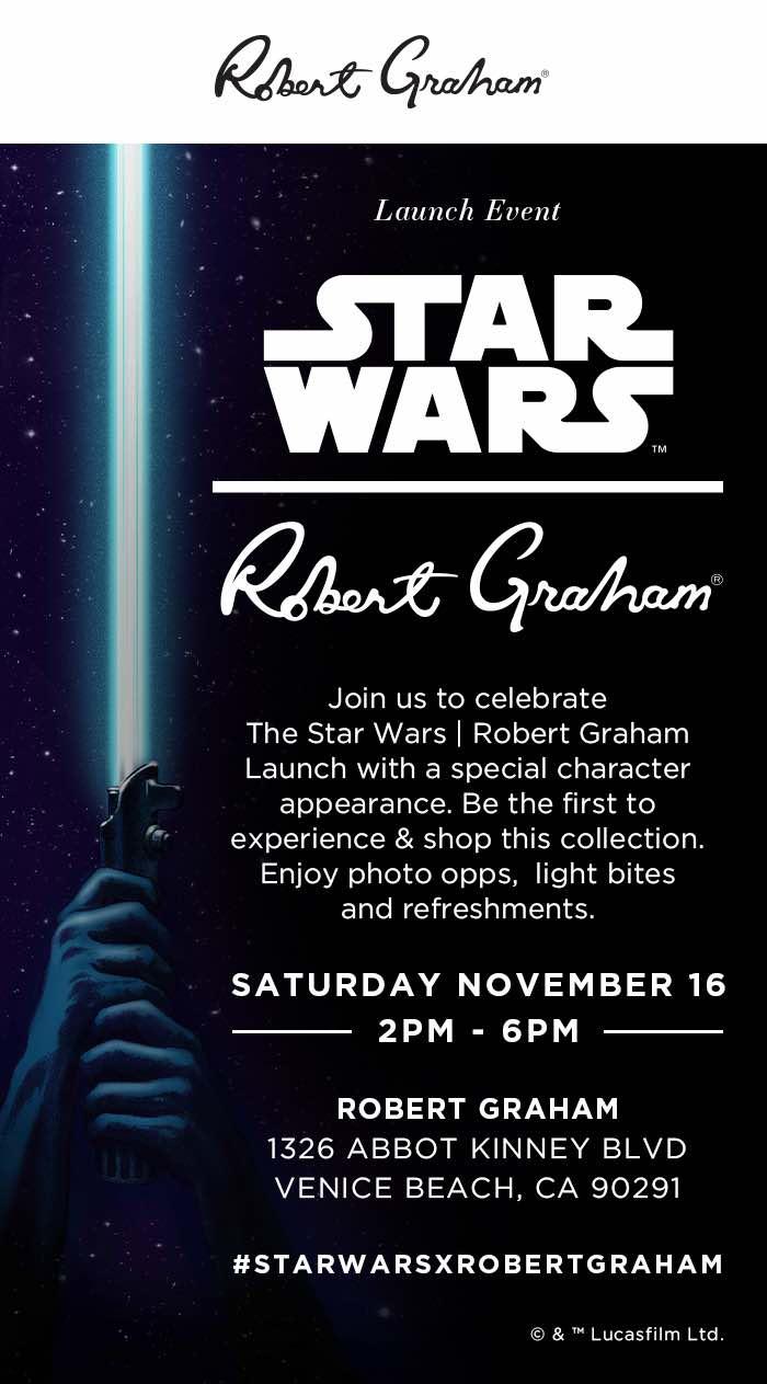 Star Wars x Robert Graham Launch Event