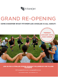 FIT4MOM Los Angeles Grand Re-Opening