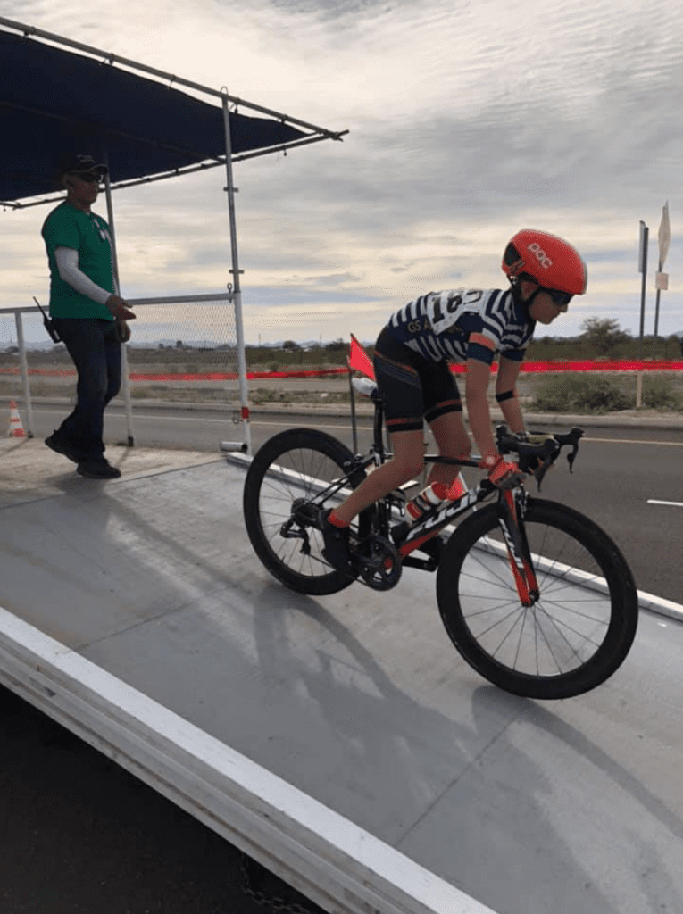 Royce Felten cycling for the YCA