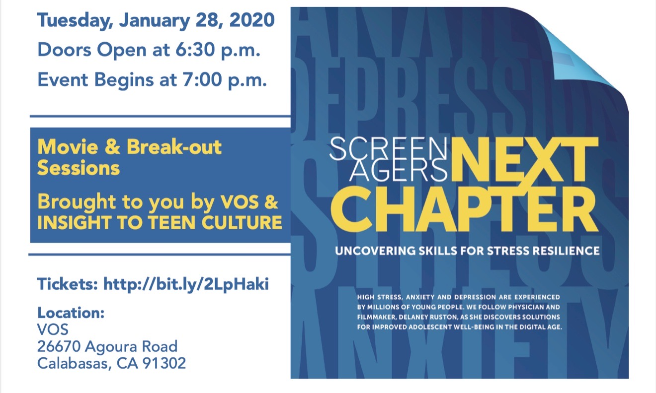 Screenagers Next Chapter: Uncovering Skills for Stress Resilience Parent/Tween/Teen Program