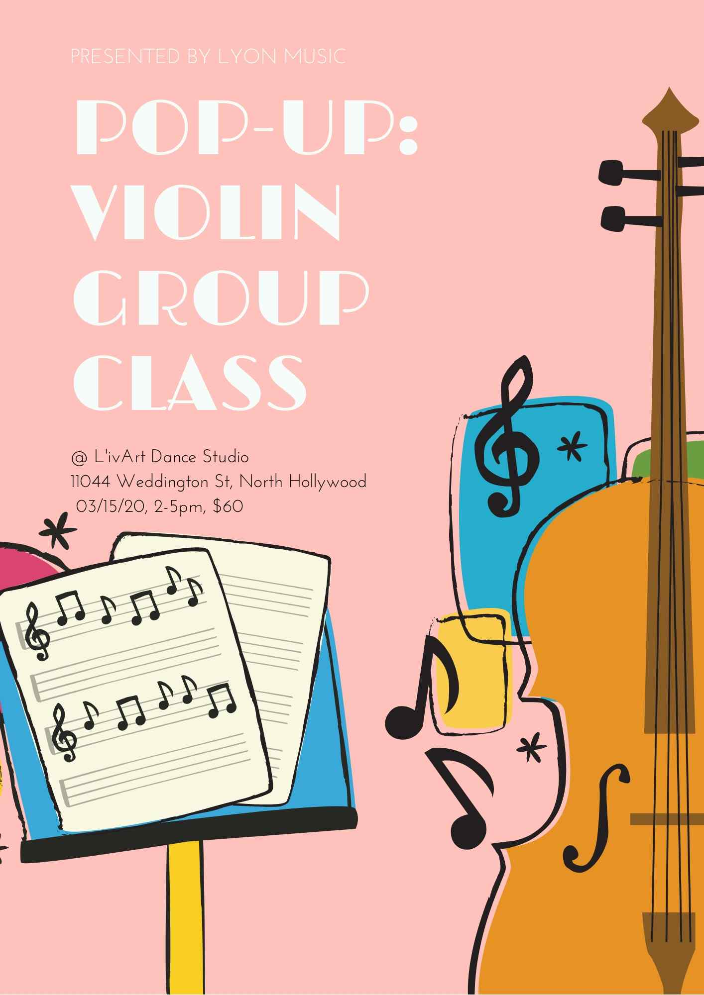 "Lyon Music Presents ""Pop-Up: Violin Group Class"""