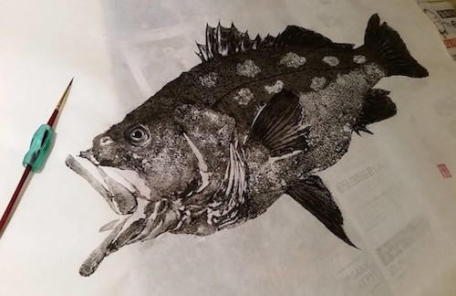 Soot and Water: Gyotaku Records of Catalina Exhibition