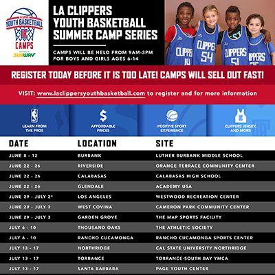 LA Clippers Youth Basketball Camp