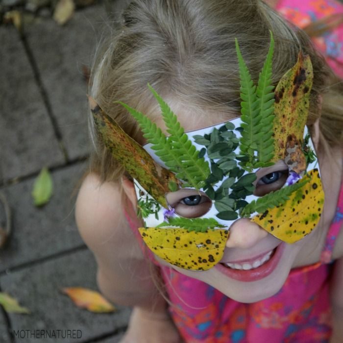 Nature activities camouflage mask