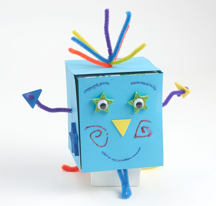 kid crafts recycled robots