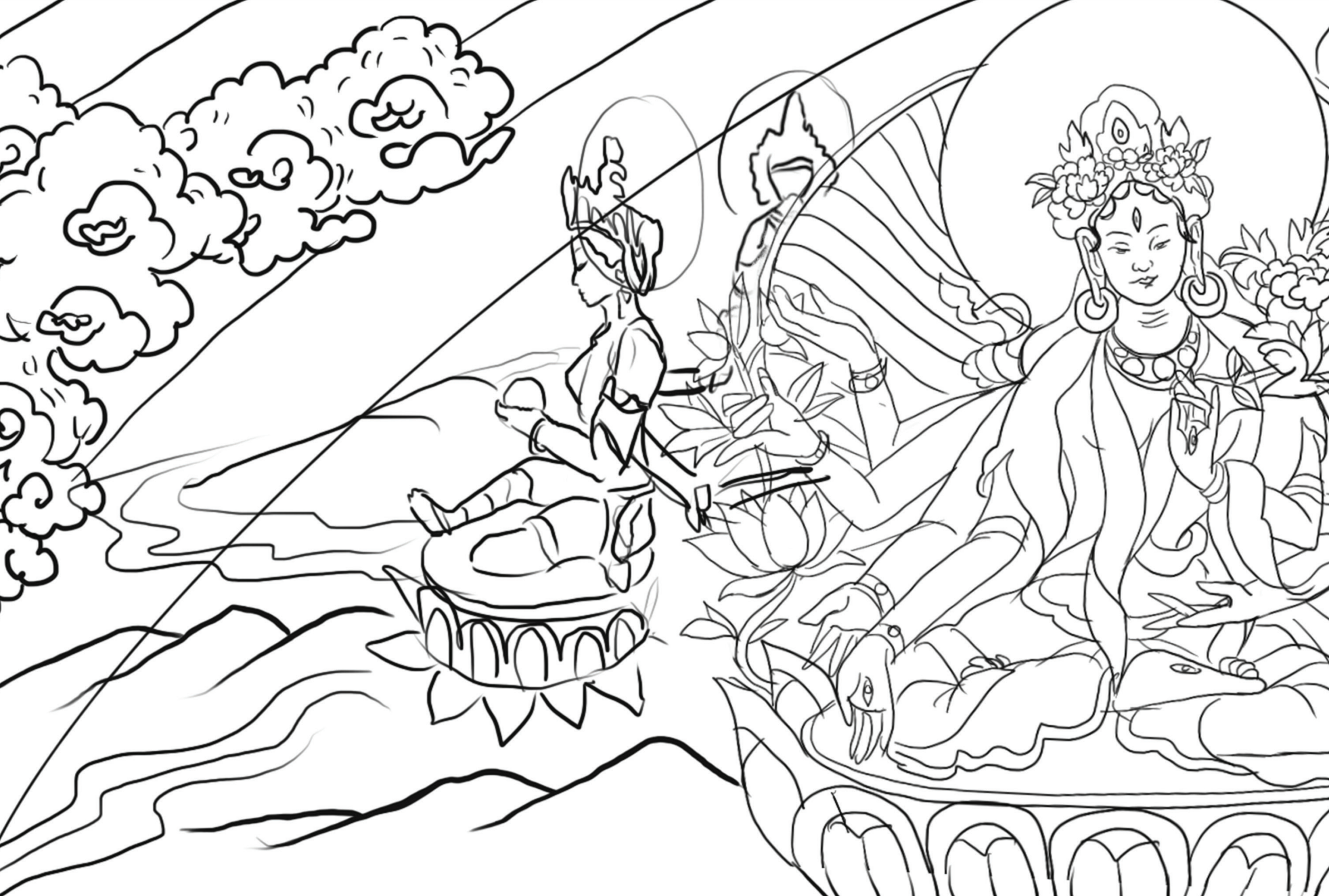 Free Downloadable Coloring Pages from Asian Art Museum