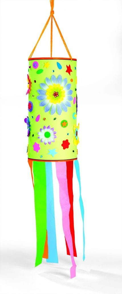 kid crafts spring wind sock