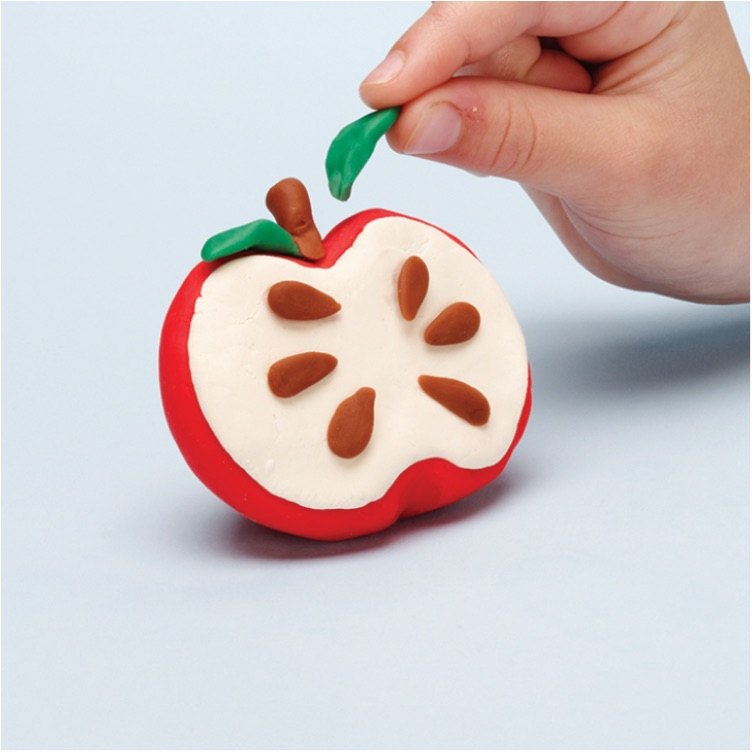 Make a Play-Doh Apple