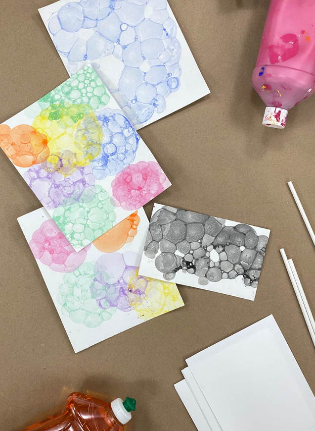 Craft at Home - Printing With Bubbles