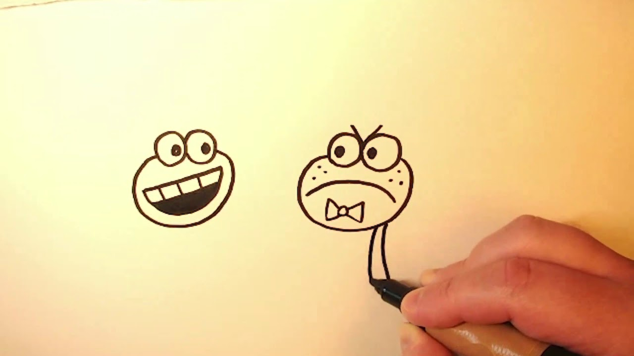 Dav Pilkey Paints + Baby Frogs