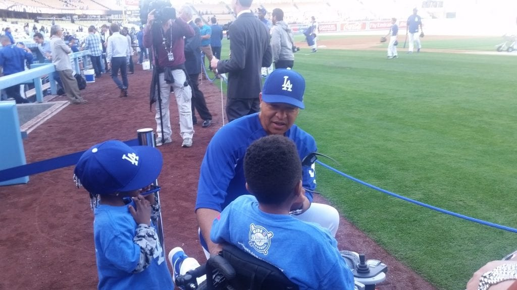 Dave Roberts and fan