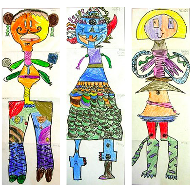 ProjectArt LA Lesson: Exquisite Corpse