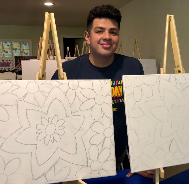 Art Lesson with Gian