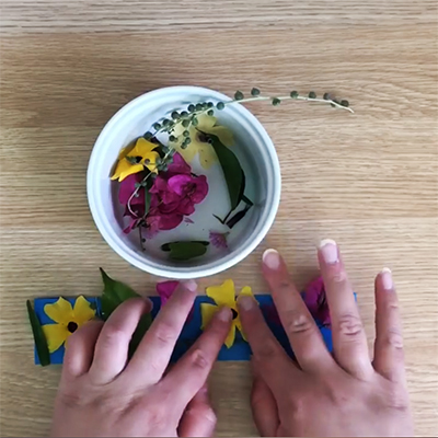 Book Reading and Flower Bracelet Craft