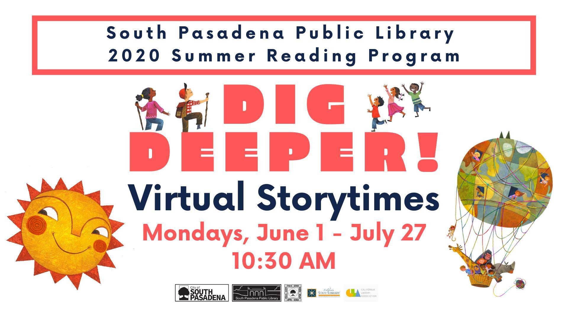South Pasadena Library Virtual Story Times