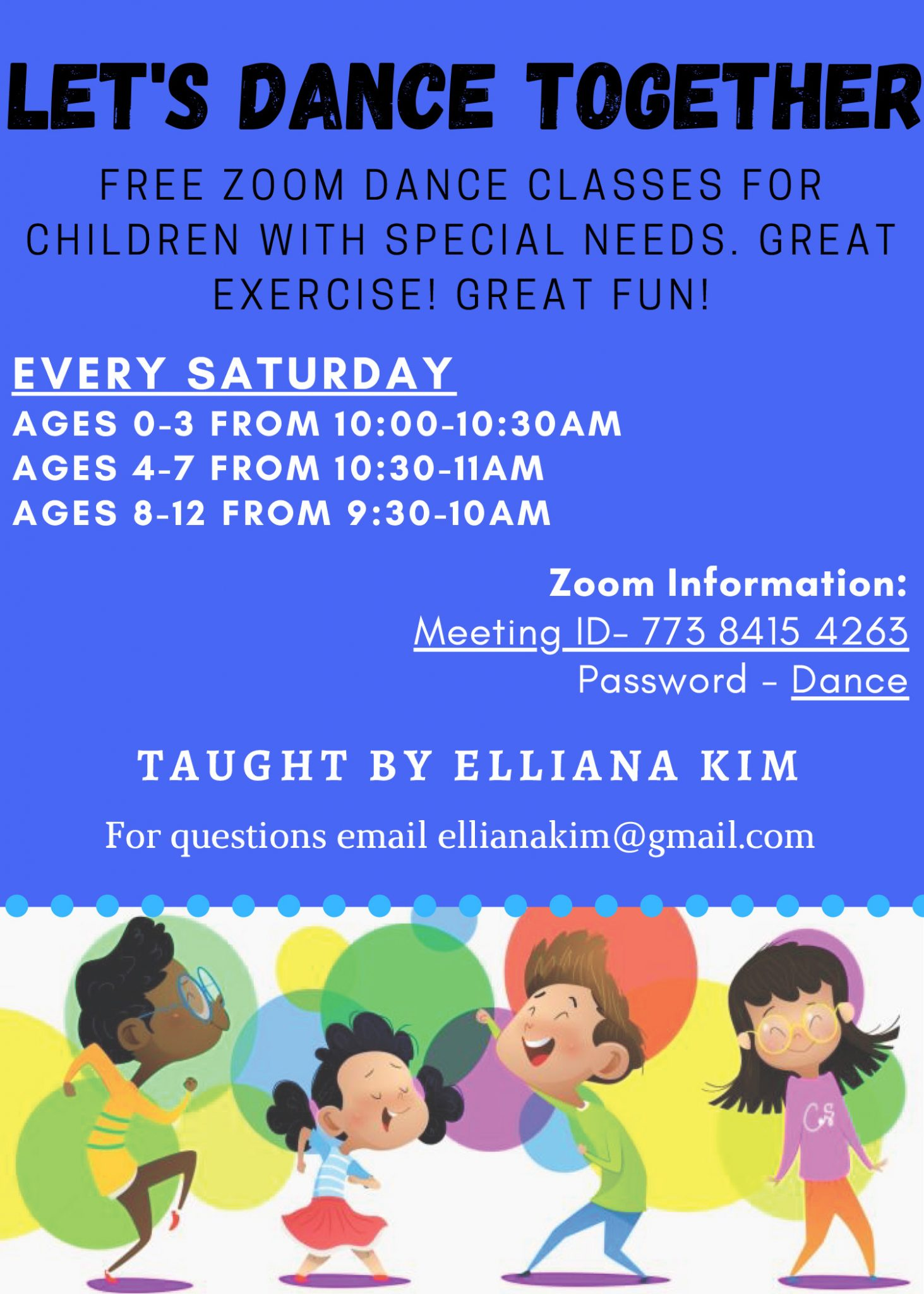 Dance Class for Toddlers with Special Needs