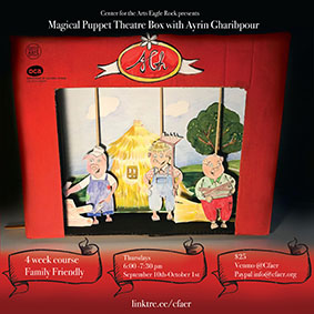 Magical puppet theater box