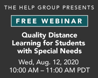 Webinar: Quality Distance Learning for Students with Special Needs