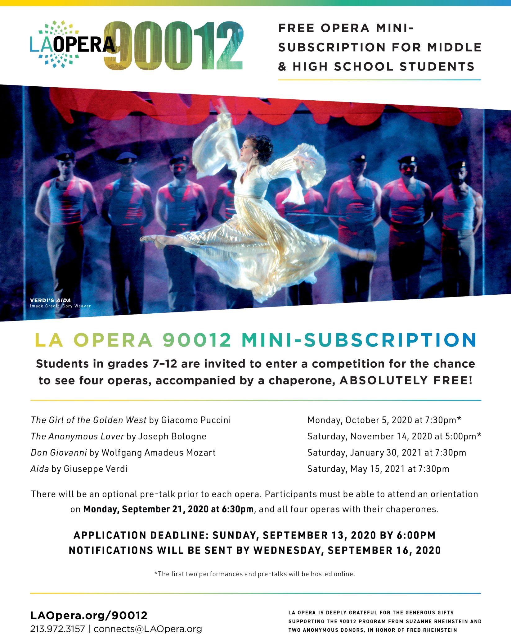 LA Opera 90012 Contest